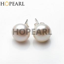 Big Size Pearl 12-13mm Button Freshwater White Pearl 925 Sterling Silver Simple Studs Earrings Women Beauty Pearl Jewelry
