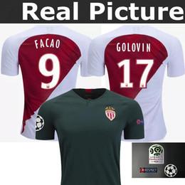 J.MOUTINHO 18-19 TOP best AS Monaco JERSEY FALCAO 9 JOVETIC 10 LEMAR 27 home soccer jersey
