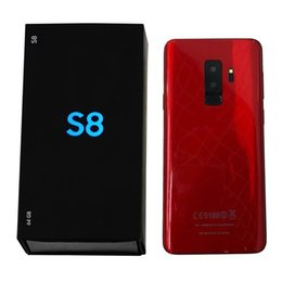 6.2 inch Full Screen Goophone Plus Fingerprint Android 6.0 1GB 16GB Show fake 4GB RAM 64GB ROM Fake 4G LTE Unlocked Cell Phone DHL Free