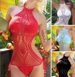 New Style Women Swimwear Monokini Strappy Bikini Beach Sexy Crochet One Piece Swimsuit