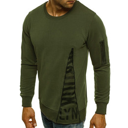 Spring and summer new men's fashion round collars with a long sleeve round collar T-shirt, T-shirt and T-shirt