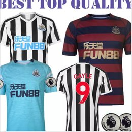 top quality 18 19 Newcastle United Soccer Jersey 2018 2019 Home Away 3rd blue RITCHIE ATSU SHELVEY 9 GAYLE LASCELLES Football Uniform Shirt