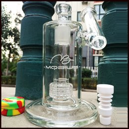 """8.5"""" glass bong 5mm thick mobius oil rigs glass bongs smoking pipes recycler rigs water pipes joint 18.8mm"""