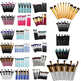 10PCS Cosmetic Brush set Kits 23 colors Professional Kabuki Makeup Brushes Tools Set Face Make Up Beauty for women gift 15*11cm