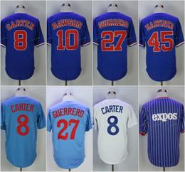 8 Gary Carter Men's Montreal Expos 10 Andre Dawson Baseball Jersey 27 Vladimir Guerrero 45 Pedro Martinez High Quality Jerseys