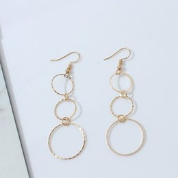 Simple Round Geometric Earrings Fashion Irregular Gold Silver Color Series Size Circle Pendant Long Earrings Brincos for Women