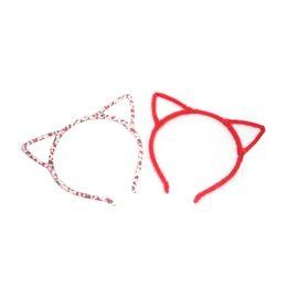 Autumn new plush cat ears headband sale Meng women's leopard small devil cat headband woman baby headband