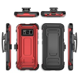 Defender Hybrid Armor Case With Belt Clip Holder Magnet Shockproof Cover For iphone X 7 8 6S plus Samsung S8 S9 PLUS