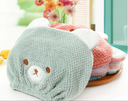 Corallate children dry hair Cute Little Bear bathing cap