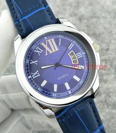 Top Luxury Brand Silver Black Leather Caliber Sports Men Relojes Watch Reloj de cuarzo Hora Sport Mens Reloj de pulsera Relogio automatic