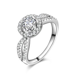 Luxury Fine Jewelry 925 Sterling Silver Rings For Women Wedding Engagement Cubic Zirconia Jewelry