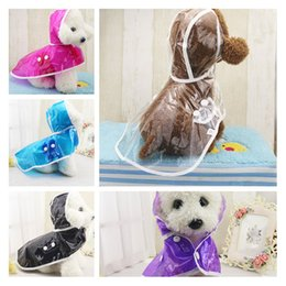 Wholesale New Dog Waterproof Raincoat Pet Protection Poncho Hooded Spring Summer Raining Days Colorful Dog Apparel