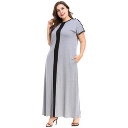 3187076 Muslim Women Wool Ball Jointing Patchworked Dress Muslims Robe Long Skirt Loose Large Size Dress Big Code Musulman Mujer Vestidos