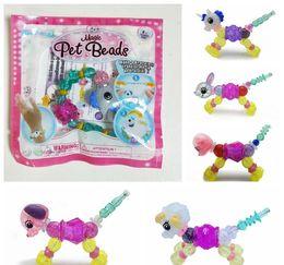DHL shipping 2018 New Creative DIY Magic Tricks Bracelet Animal Pets Stitching Magical Bracelet for Girls Women Party Xmas Gift