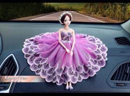 Car Creative Cute Decorative Fashion Female Wedding Cartoon Doll Handmade Decoration Gift,freeshipping