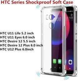 For HTC Series HTC U11 Life U11 Eyes Desire 12 Desire 12 Plus U12 Plus Transparent Anti-knock Clear Shockproof Soft TPU Case