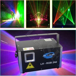 Analog 45Kpps 2.5W RGB full color Animation laser light ILDA DMX 512 stage laser light Christmas new year laser show