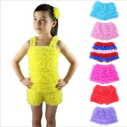 Ruffle leggings icing kids cotton spandex pants stripe short pants for baby wholesale