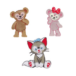 Fashion cartoon cute cat badge iron embroidered garment applique DIY accessories 12PCS PLUD customizable patch patch