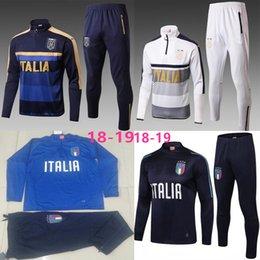 66d2bdafd5 17 18 Survetement fútbol Italia Chándal Italia Kits de entrenamiento de  fútbol Chandal italiano 2017 2018 Chándal Shinny pantalones ajustados suéter