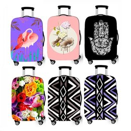 Sael Populr Purple Flower Bird Travelling Suitcase Protective Bag Waterproof Dustproof Men Women Use Zipper Spandex Elastic Luggage Covers