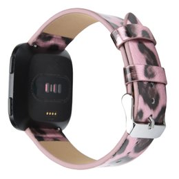 for Fitbit Versa Bands, Replacement Printed Microfiber Leather Band for Fitbit Versa Smart Watch,Stylish Bracelet Strap for Men Women