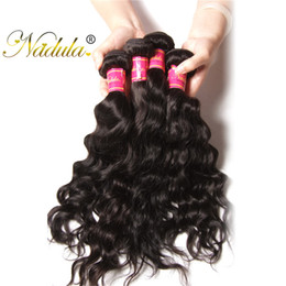 Nadula Brazilian Natural Wave Hair Extensions 3Bundles Remy Human Hair Wefts Weave 8-26inch Natural Can Be Permed Wholesale Cheap