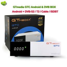GTmedia GTC Satellite Receiver IPTV Media Player Android 6.0 DVB-S2 DVB-C DVB-T2 ISDB-T 2GB RAM 16GB ROM Wifi 2.4G+BT4.0 Amlogic S905D CCcam