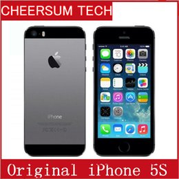 Free Shipping Apple iphone 5S Mobile phone LTE Dual core 4.0 inches 1G RAM 16GB 32GB 64GB ROM 8MP IOS cellphone without fingerprint