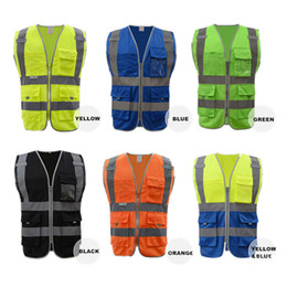 High Quality High Visibility Reflective Vest Working Clothes Motorcycle Cycling Sports Outdoor Reflective Safety Clothing free shipping 2018