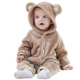 MICHLEY Spring Cute Baby Flannel Rompers Warm Long Sleeve Baby Clothes Autumn Baby Clothes Cartoon Jumpsuit JY018