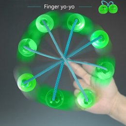 2018 Popular and interesting Finger Yo-yo Fidget Decompression treasure bead with LED Light adult finger toy gift