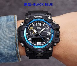 SBAO Double Display Digital Watch 30m Swimming Calendar LED Electronics Watches Male Military Army Sport Watch relogio masculino