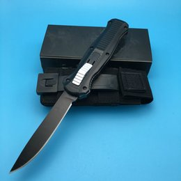Best made 3310 Black Single Blade Spear satin plain Point Black Nylon Sheath camping knife outdoor knife knives scarab
