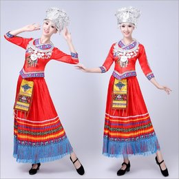 2018 New Miao Costumes Miao Costumes Female Adults Yunnan Ethnic Zhuang Xiangxi Yao People Performance Costumes