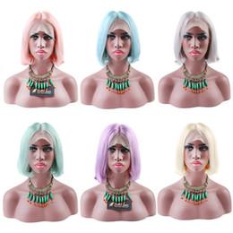 Brazilian BOB Full Lace Wigs Virgin Human Hair Lace Wigs for Black Women Transparent Lace Color Medium Cap 180% Density 8A Grade