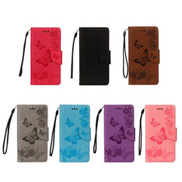 Fashion Butterfly Leather Wallet Case For Huawei P20 Plus Pro Enjoy 7S P9 Lite mini Mate 10 Flower ID Card Slot Cover Skin Pouch Flip Strap