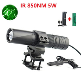 NEW 2018 COURUI CR-S6 5W Torch IR850nm Zoom Hunting IR Lamp Booster Fill light Night Vision LED Flashlight