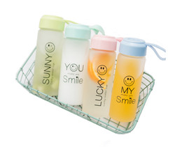 380ml My Smile Cartoon Lovely Water bottle Leak Proof Eco-friendly Creative Fashion Korean Style High Quality Portable Bottles