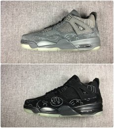 New 2018 Basketball shoes 4 Classic 4s KS Cool grey black suede mens trainer Sports Shoes