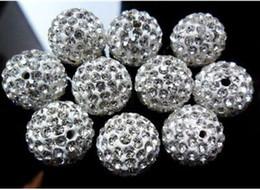 Free shipping 10m White beads rhinestone ball clay polymer clay beads to earrings shambhala bracelet accessories