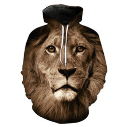 Lovers Mens Hip Hop Hoodie Sweatshirt Mens Hoodie For lion 3D Printing Fashion Casual long sleeve Sweater For teenagers Drop Shopping