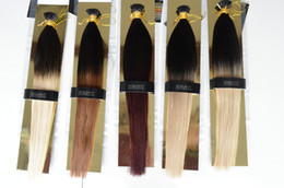 "XCSUNNY 100% Malaysian Human Remy I Tip Hair Extensions 18""20"" Fusion Human Hair Extensions 100g Stick Tip Remy Human Hair Ombre"