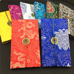 Joyous Coin Retro Hardcover Chinese Silk Notebook Gift Adult Diary Traditional Brocade Craft Business Notepad Notebook 1pcs
