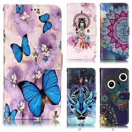Luxury Relief Cases For Huawei P20 Pro Mate 10 9 Lite P9 Mini Y9 2018 Enjoy 7S Owl Leather Wallet Case Flower Butterfly Card ID Slot Pouch