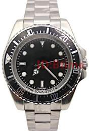 Marca de lujo de los hombres 44 mm pulsera de acero Stanless 116660 SEA-DWELLER automática de negocios SEA reloj para hombre