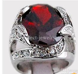 3.1ct Garnet Diamond 14K Solid Gold Ring