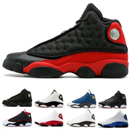 New 13 men basketball shoes trainers white Black Cat bred Chicago Hyper Royal He Got Game Playoffs Italy Blue 13s sports shoes Sneaker