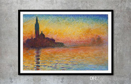 Claude Monet Art Works Saint Georges majeur_au_crépuscule Painting Home Decor Art Poster Print 16 24 36 47 inches