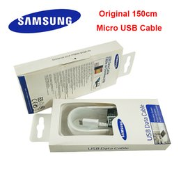 1.5M Micro USB 2.0 Sync Data Charger Cable For Samsung Galaxy note4 NOTE 4 s5 s6 s7 s8 edge Android phones with packaging 100pcs lot